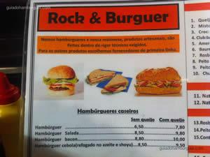 Cardápio - Rock & Burguer